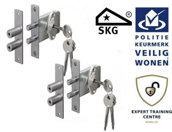 Veiligheids Penslot SKG* set van 2 stuks gelijksluitend