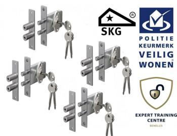 Veiligheids Penslot SKG* set van 4 stuks gelijksluitend