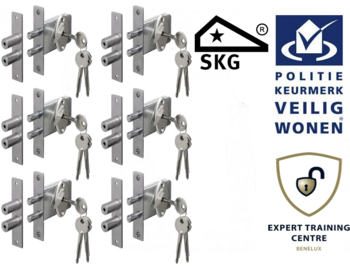 Veiligheids Penslot SKG* set van 6 stuks gelijksluitend