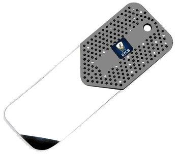 RVS flipperkaart grijs kort 0,20mm dik