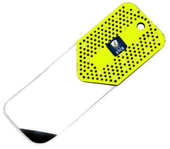 RVS flipperkaart Geel extra lang en 0,20mm dik
