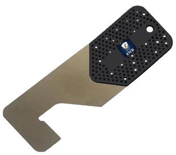 RVS flipperkaart L-vormig 0,20mm dik
