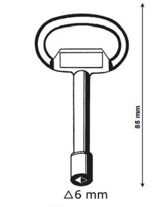 Driehoek sleutel 6mm
