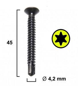 Voorboor / Trekschroef (Geel)  Ø 4,2 MM / 45mm 50 STUKS